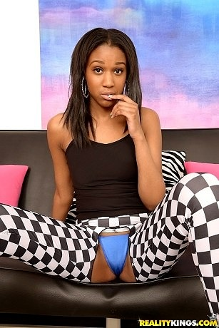 Sexy Lola in crotchless pants